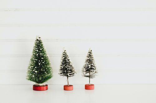 three green christmas tree decors